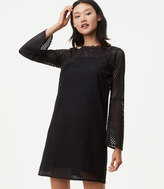 LOFT Lace Mesh Bell Sleeve Dress
