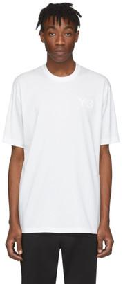 Y-3 Y 3 White Logo T-Shirt