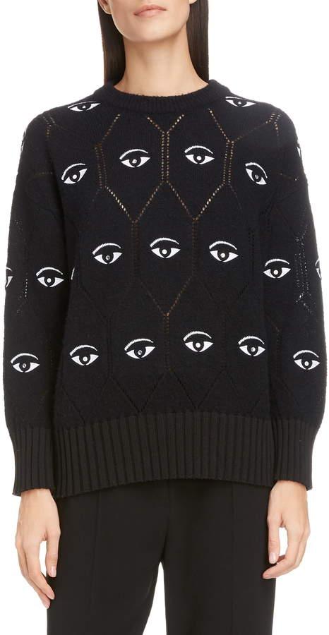 29fa383892 Eye Logo Wool Blend Sweater