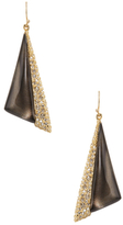 Alexis Bittar Crystal Encrusted Futurist Drop Earrings
