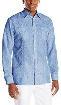 Cubavera Men's Long Sleeve 2 Upper Pocket Guayabera Shirt