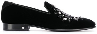 Jimmy Choo Thame crystal-embellished slippers