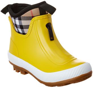 Burberry Vintage Check Neoprene & Rubber Rain Boot