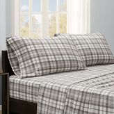 True North by Sleep Philosophy Microfleece Sheet Set in Grey Plaid