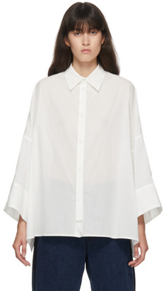 Y's Ys White Spare Front Fly Shirt