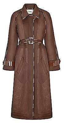Fendi Women's Belted Mesh Coat