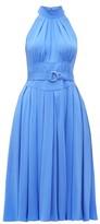 Diane von Furstenberg Nicola High-neck Belted Silk Dress - Womens - Blue