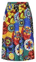 Marina Rinaldi Charlot Porcelain Print Wide Trousers