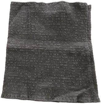 Miu Miu Grey Cotton Top for Women Vintage