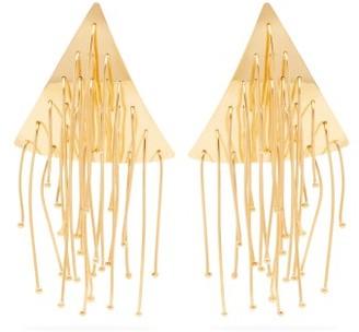 Jil Sander Triangular Drop Earrings - Womens - Gold