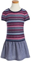 Design History Intarsia Pattern Dress (Toddler Girls & Little Girls)