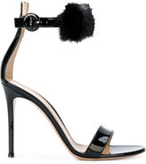 Gianvito Rossi fluffy trim sandals