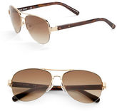 Bobbi Brown The Angelina 57mm Aviator Sunglasses