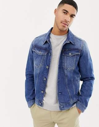 G Star G-Star 3301 slim fit denim jacket in mid wash-Blue