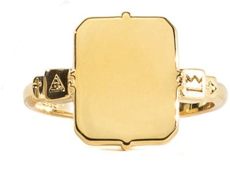 Serge Denimes Serge DeNimes Gold Plated Silver Mirror Ring
