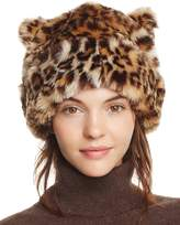 Kate Spade Plush Leopard Hat with Ears