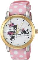 Disney Women's 'Minnie Mouse' Quartz Metal and Nylon Casual Watch, Color: (Model: WDS000259)
