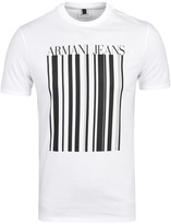 Armani Jeans Barcode White Short Sleeve T-shirt
