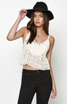 Somedays Lovin On The Road Lace-Up Cropped Top