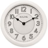 Bulova Quartz Analog with Bluetooth Technology Wall Clock in White