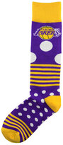 For Bare Feet Los Angeles Lakers Dots and Stripes 538 Socks