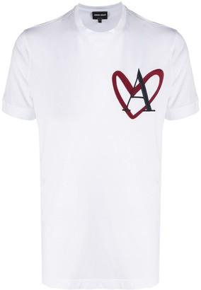 Giorgio Armani heart cotton T-shirt