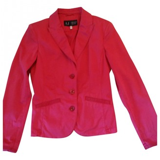 Armani Jeans Red Cotton Jacket for Women