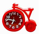 Cute Bicycle Shape Alarm Clock Bedside Desk Alarm Clock for Kids/Students, Red
