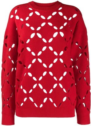 Versace Laser-Cut Wool Jumper