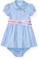 Ralph Lauren Girl Oxford Dress & Bloomer