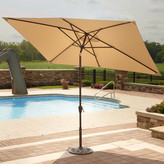 Island Umbrella 6.5' x 10' Adriatic Rectangular Market Umbrella