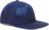 Blue Blue Japan - Indigo-dyed Floral-print Cotton-canvas Baseball Cap