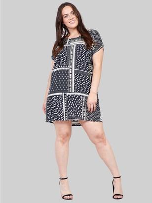 M&Co Izabel Curve patchwork floral shift dress