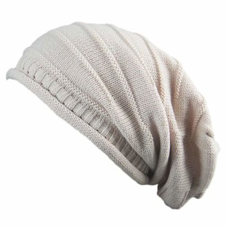HAVE1SEE Thick Slouchy Knit Oversized Beanie Cap Hat Winter Warmming Cap
