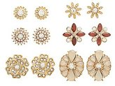 Charlotte Russe Embellished Floral Stud Earrings - 6 Pack