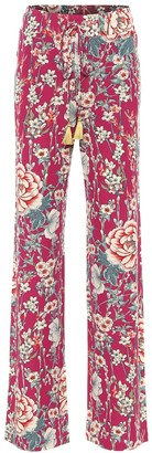 Etro Floral high-rise wide-leg pants