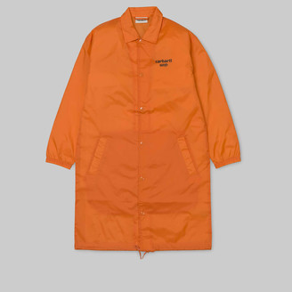 Carhartt Work In Progress Orange Black Astra W Coach Jacket - DE XS | orange - Orange/Orange