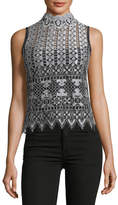 Nanette Lepore Magic Trick Sleeveless Lace Top