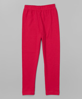 Flap Happy Fuchsia Leggings - Infant Toddler & Girls