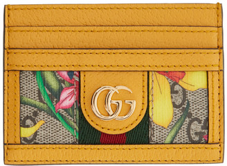 Gucci Yellow GG Flora Ophidia Card Holder