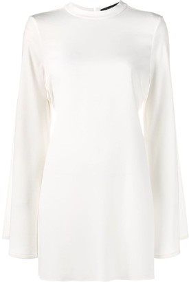 Ellery Side Slit Tie Back Tunic Top