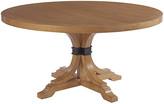Barclay Butera Magnolia Extension Dining Table - Sandstone frame, sandstone; hardware, antiqued bronze