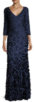 Theia Applique Maxi Dress