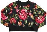 Dolce & Gabbana Embellished Roses Cotton Sweatshirt