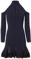 Jonathan Simkhai Cold Shoulder Combo Dress