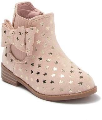 Tahari Fez Foil Print Ankle Boot (Toddler)