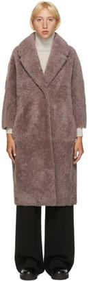 S Max Mara Pink Shearling Meringa Coat