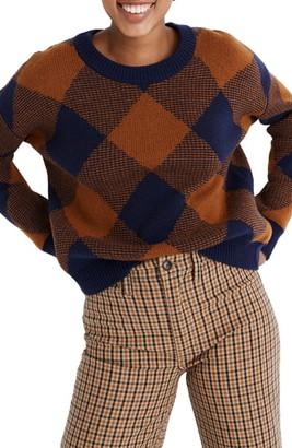 Madewell Harvest Plaid Wool Blend Sweater