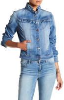 Kensie Jeans Forever Ruffled Denim Jacket