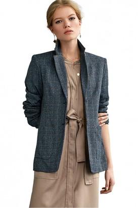 Riani Azzuro Check Blazer - 10